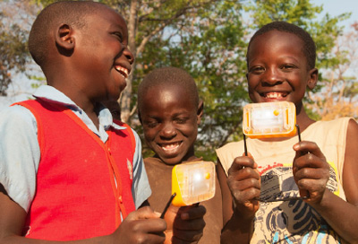 SolarAid and Yingli Solar developed The SM100, which retails at just $5 in rural Africa, making it the world's most affordable solar light.