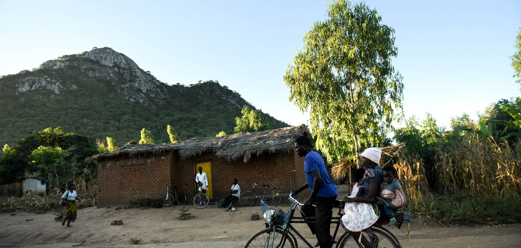 People on a bike in central Malawi