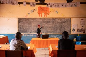 Teacher leading the Light a Village training.