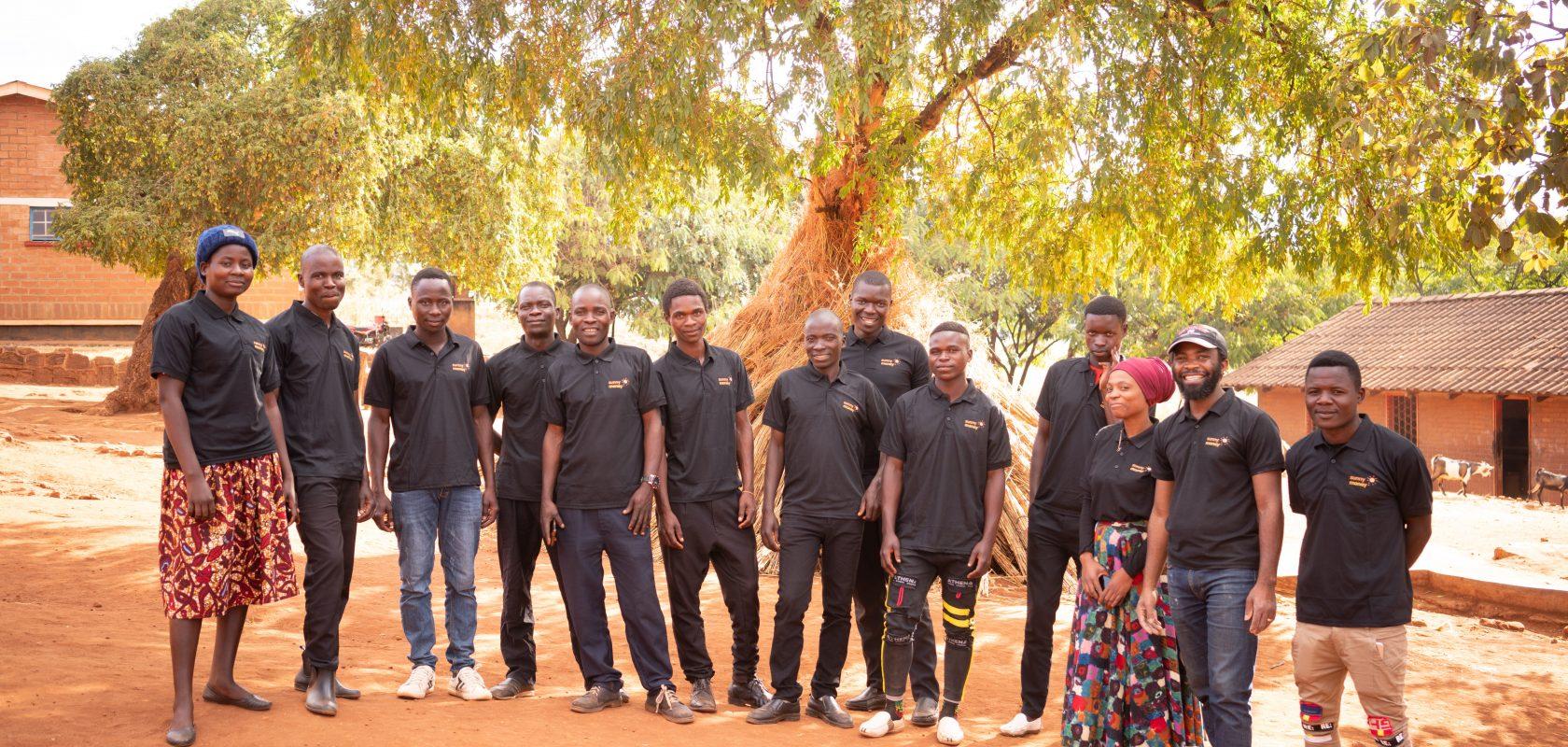 Group of customer service representatives