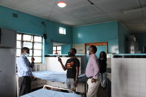 Healthcare workers in Zambia