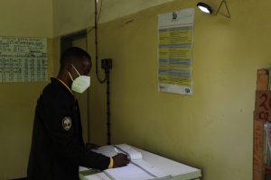 Zambian health care worker Keith Samanata